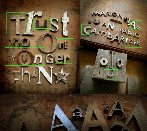 Sans Serif letterforms in No One Younger Than 82