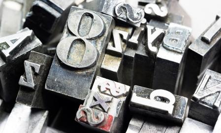 Metal Type Letterpress Random Letters