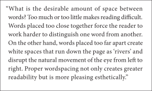 Justified text with optimal word spacing and optimal letter-spacing