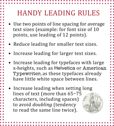 Chart of Handy Leading Rules
