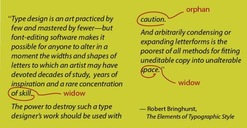 Type design is a skill ... quote by Robert Bringhurst, The Elements of Typographic Style