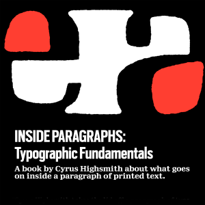 Inside Paragraphs: Typographic Fundamentals Book Cover
