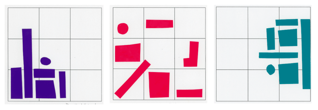 Three Grids with Instinctive Placement of 6-7 shapes