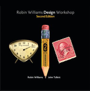 "Book cover for ""Design Workshop"" by Robin Williams and John Tollett"
